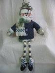 Dangle-Legs Snowman Pattern