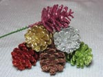 Glittered Pinecones