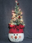 Snowman Tree-on-Top Pattern-snowman pattern, snowman, Christmas tree craft pattern, snowman with tree, Christmas tree