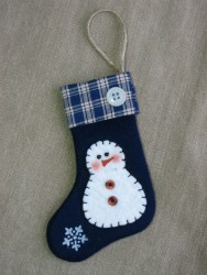Homespun Snowman Stocking Pattern