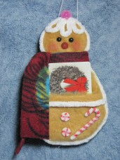 Gingerbread Gift Card Holder Pattern