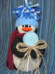 Lollipop Penguin Pattern