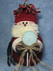 Lollipop Santa Pattern
