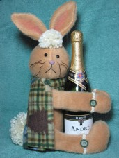 Rabbit Wine Hugger Pattern