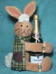 Rabbit Wine Hugger Pattern