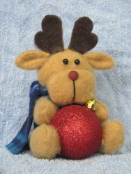 Reindeer Bauble Holder Pattern