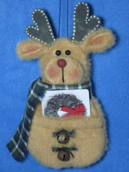 Reindeer Gift Card Holder Pattern