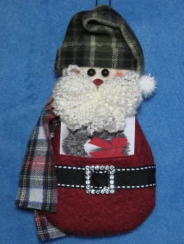 Santa Gift Card Holder Pattern