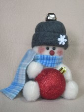 Snowman Bauble Holder Pattern