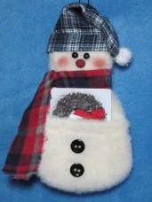 Snowman Gift Card Holder Pattern