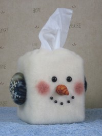 Snowman Tissue Box Cover Pattern