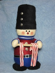 Soldier Candy Cane Holder Pattern