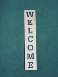 Wooden Welcome Sign - Miniature