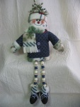 Dangle-Legs Snowman Pattern